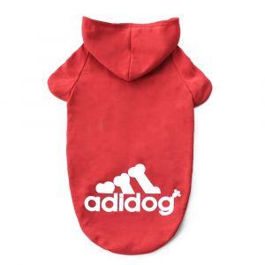 Adidog Dog Hoodie Pet Clothing - Red