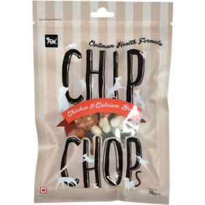 Chip Chops Chicken and Calcium Bone, 70 gms - Dog Treat