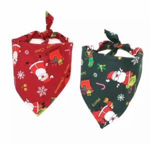 Bandana/Scarf Collar for Puppies, Dogs, Kittens and Cats - Merry Christmas Santa