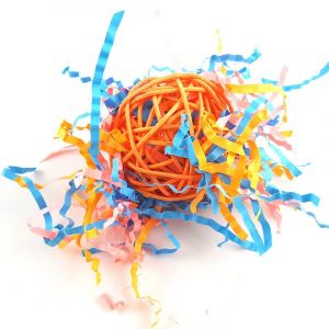 Natural Rattan Ball Bird Toys for Training, Playing and Chewing for Parrots, African Greys, Budgies, Cockatiels, Parakeets, Lovebirds, Hamsters, Gerbils, Mice, Rats