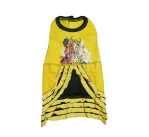 Zorba Floral Printed Frock for Small Dogs, 18 Inch