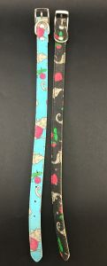 Canine Printed Leather Collar for Puppies, Cats and Toy Dogs