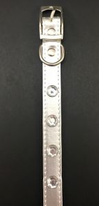 """Canine Silver Diamond Collar for Puppies, Cats and Toy Dogs, 3/4"""""""