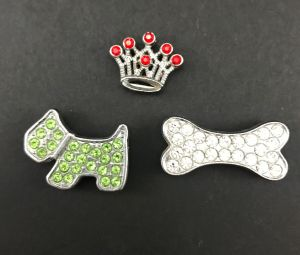 Full Rhinestone Slide Charms for Dog Collar