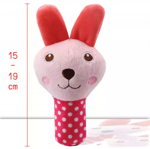 Plush Squeaky Chew Interactive Pet Toys For Your Pups, Dogs, Kittens and Cats - Rose Rabbit
