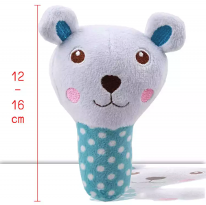 Plush Squeaky Chew Interactive Pet Toys For Your Pups, Dogs, Kittens and Cats - Blue Bear