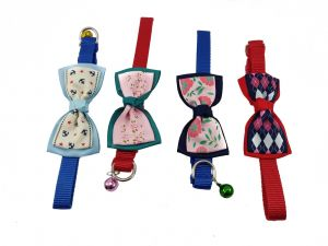 Canine Fancy Nylon Collar with bow and Bell for Dogs and Cats, Medium