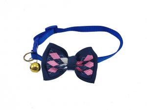 Canine Fancy Nylon Collar with bow and Bell for Dogs and Cats, Small