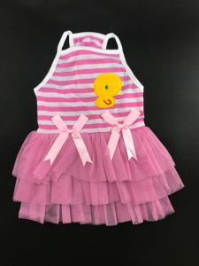 Cotton Frock for Dogs and Cats - Chick Swing Dress (Pet Clothing)