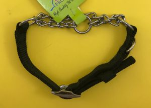 Canine Choke Collar for Dogs, Black - Small