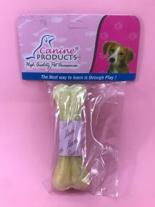 Canine Rawhide Pressed Chew Dog Bone - 4 inch, 1 Piece