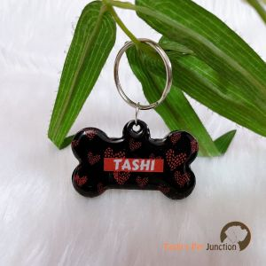 Love in Darkness - Personalized/Customized Name Tags for Dogs and Cats with Name and Contact Details
