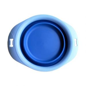 Foldable Silicone Travel Bowl with Tray
