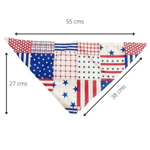 Bandana/Scarf Collar for Puppies, Dogs, Kittens and Cats - Patchwork Bandana
