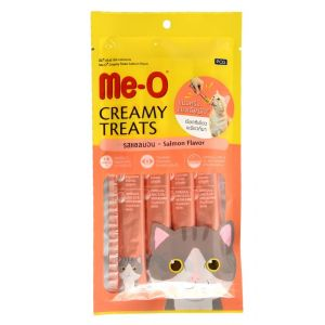 Meo Creamy Cat Treat, Salmon Flavor - 4 Sticks (60 gm)
