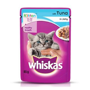 Whiskas Tuna in Jelly, Kitten Wet Cat Food - 85 gm