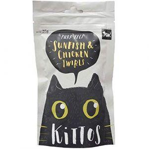 Kittos Cat Treat, Sunfish and Chicken Twirls - 35 gm
