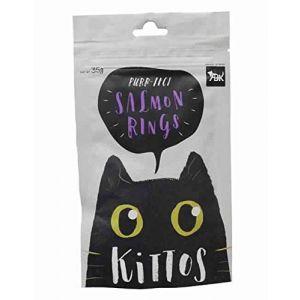 Kittos Cat Treat, Salmon Rings - 35 gm