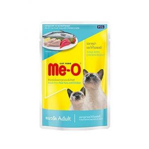 Meo Wet Cat Food, Tuna With Chicken in Jelly - 80 gm
