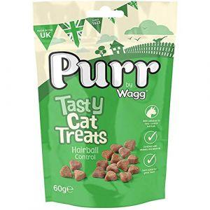 Wagg Purr Tasty Cat Treats, Hairball Control - 60 gm