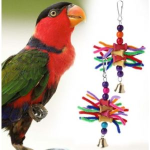 Cage Accessories/Multicolour Swing Chew, Bite String Bird Toys for Parrots, African Greys, Budgies, Cockatiels, Parakeets, Lovebirds