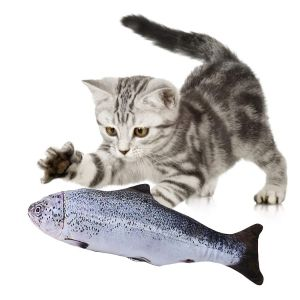 Plush Scratching Chewing Teeth Grinding Catnip Funny Interactive Toys for Kittens and Cats - Fish Shaped