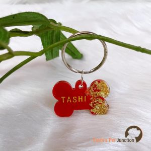 Dual Colour Personalized/Customized Name Tags for Dogs and Cats with Name and Contact Details