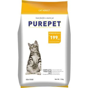 Purepet Adult Cat Food, Sea Food - 1.2 Kg