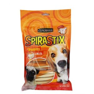 Goodies Spirastix Pudding and Milk Dog Treat - 450 gm