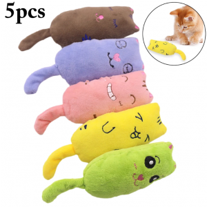 Plush Chewing Teeth Grinding Catnip Funny Interactive Toys for Kittens and Cats