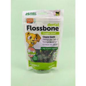 Dental Flossbone Veggie Treat, 25 Counts - Small