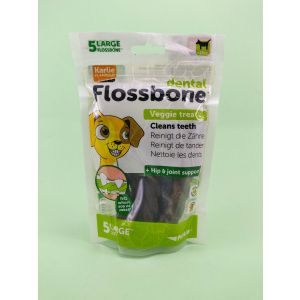 Dental Flossbone Veggie Treat, 5 Counts - Large