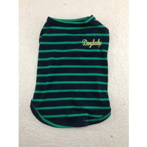 Cotton T-Shirt for Dogs and Cats - Tri-colour Striped Vest (Pet Clothing)