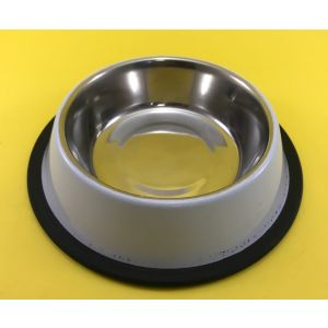 Pet en Care Coloured Non Tip Anti Skid Stainless Steel Dog Bowls with Removable Rubber Ring, Small