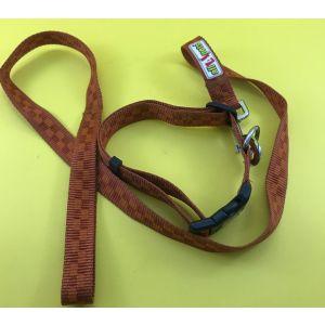 All4pets Nylon Printed Adjustable Collar and Leash Set