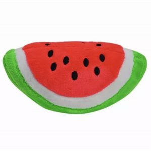 Plush Squeaky Chew Interactive Pet Toys For Your Pups, Dogs, Kittens and Cats - Watermelon Slice