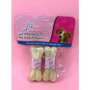 Canine Rawhide Pressed Chew Dog Bone - 3 inch, 2 Piece