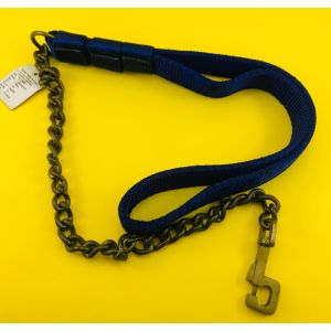 Kennel Brass Semi Chain Leash for Dogs, Blue