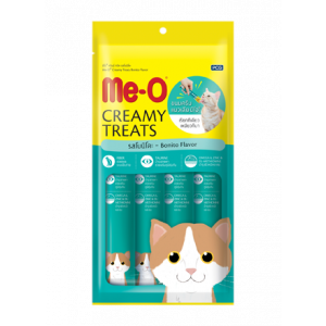 Meo Creamy Cat Treat, Bonito Flavor - 4 Sticks (60 gm)