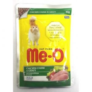 Meo Wet Cat Food, Chicken Chunk in Gravy - 80 gm