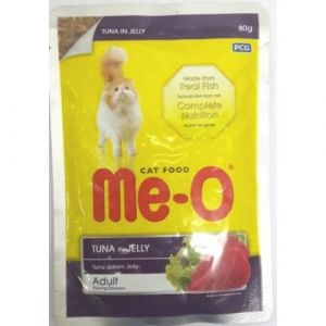 Meo Wet Cat Food, Tuna in Jelly - 80 gm