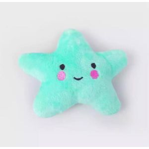Plush Squeaky Pet Toy For Your Pups, Dogs and Cats - Blue Star