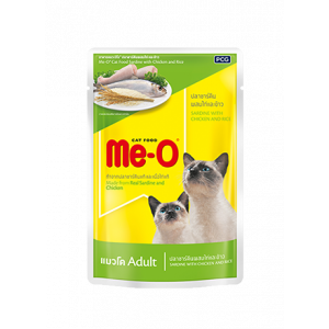 Meo Wet Cat Food, Sardine with Chicken and Rice - 80 gm
