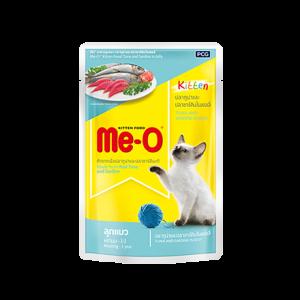 Meo Wet Kitten Food, Tuna and Sardine in Jelly - 80 gm
