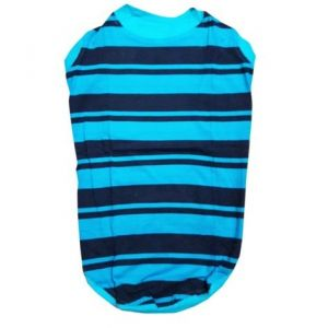 Zorba T-Shirt Blue Stripes for Large Dogs, 26 Inch