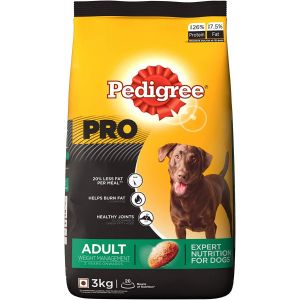 Pedigree Pro Adult Weight Management, Dry Dog Food - 3 Kg