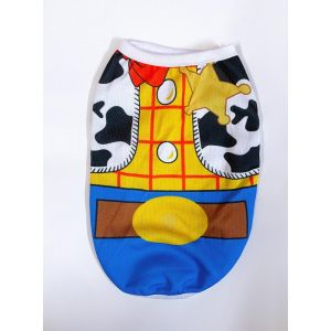 Cotton T-Shirt for Puppies, Dogs, Kittens, Cats and Rabbits - Cowboy Print Vest (Pet Clothing)